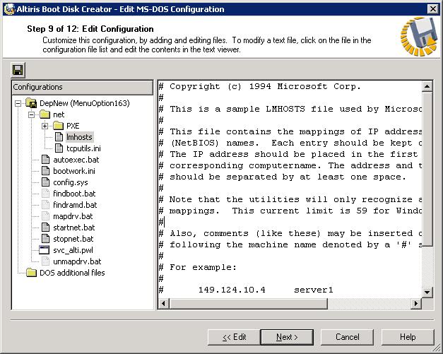 Altiris DOS Boot disk