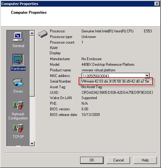 Get Virtual Machine Bios Serial Number – PepperCrew