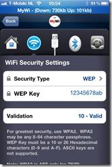 iPhone MyWi WEP Key