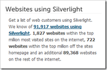 Silverlight Usage Statistics - Text