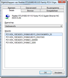 Gigabit Realtek on Realtek Rtl8168d 8111d Family Pce E Gigabit Ethernet Nic   Hardware Id