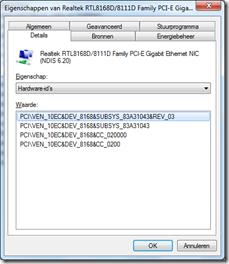 Realtek RTL8168D/8111D-Family PCE-E Gigabit Ethernet NIC - Hardware ID