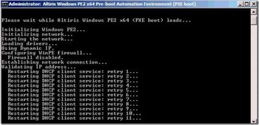 Restarting DHCP client service - retry
