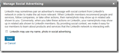 linkedin statment social advertising