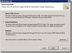 Veeam back-up wizard 2