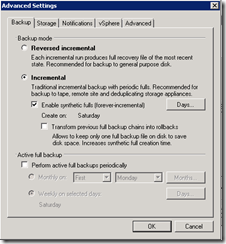 Veeam back-up wizard advanced settings 1