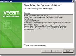 Veeam back-up wizard 8