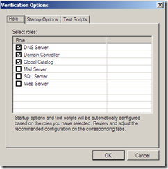 Veeam SureBackup Application verification options