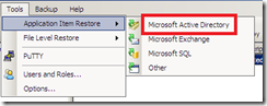Restore wizard Veeam backup exchange