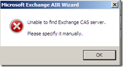 Veeam Restore wizard CAS Error