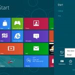 how to shutdown or restart windows8