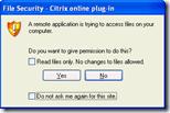File Security - Citrix Online Plugin