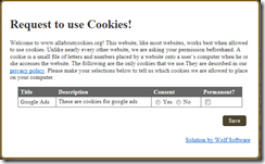 Request for cookies