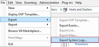 Errors VMware export system logs (Workaround) – PepperCrew