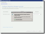 System Center Operations Manager Setup has stopped working