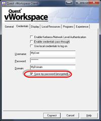 Save Password Option
