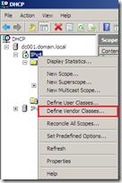 Microsoft DHCP Server - Vendor Classes #1