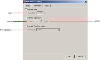 Printer Settings - Advanced