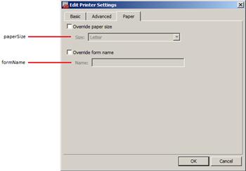 Printer Settings - Paper