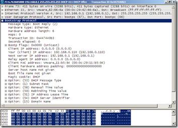 Wireshark - DHCP Offer