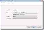 Provisioning Services Imaging Wizard - New vDisk
