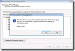 Provisioning Services Imaging Wizard - Select New or Existing Disk - Reboot