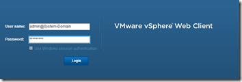 VMware vSphere Web Client - Authentication