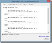 Deployment Rule Set - More Information