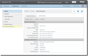 NetScaler - System - System Information - 10.1