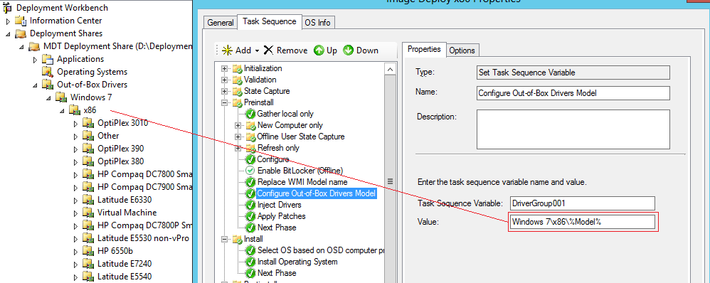 Using special characters in Microsoft Deployment Tool (model