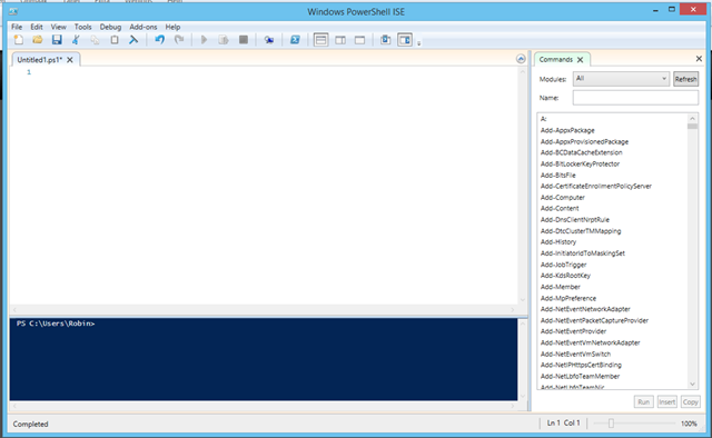 Script snippets in PowerShell ISE – PepperCrew