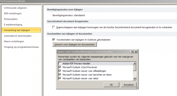 settings preview pane outlook3