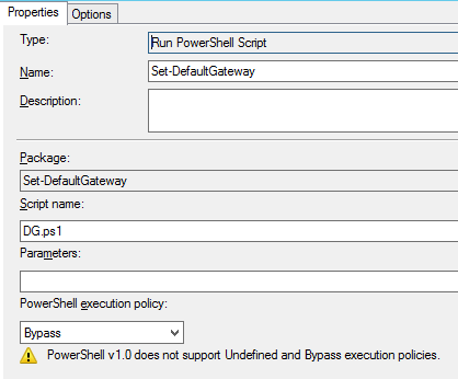 SCCM set a custom variable dependency using Powershell or Vbs